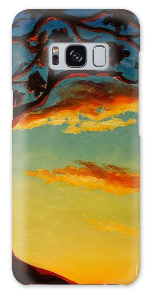 Arbutus Sunrise Galaxy Case by Janet McDonald