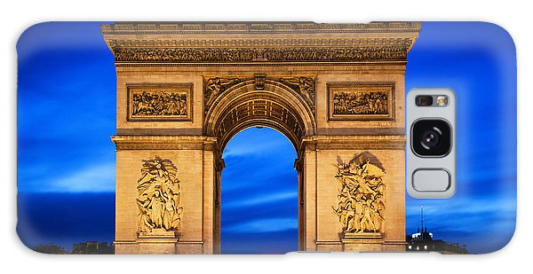 Arc De Triomphe At Night Paris France  Galaxy Case