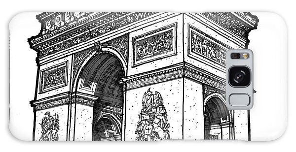 Arc De Triomphe Galaxy Case by Calvin Durham