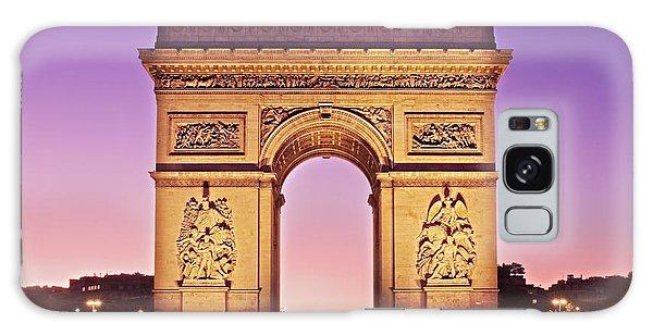 Galaxy Case featuring the photograph Arc De Triomphe Facade / Paris by Barry O Carroll