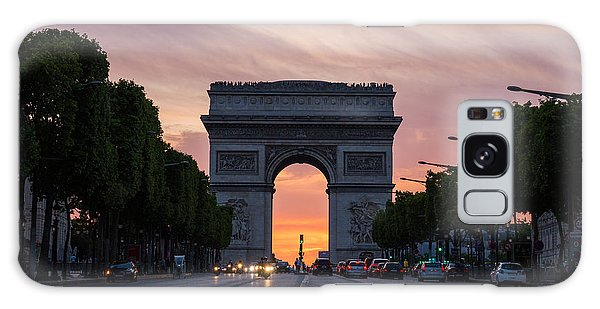Arch Of Triumph With Dramatic Sunset Galaxy Case