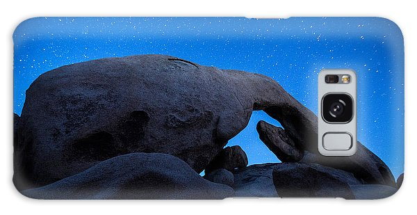 Southwest Usa Galaxy Case - Arch Rock Starry Night 2 by Stephen Stookey