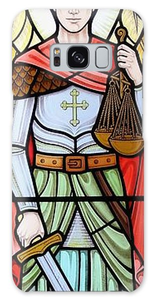 Archangel Michael Galaxy Case by Gilroy Stained Glass