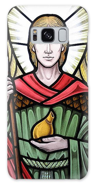 Archangel Raphael Detail Galaxy Case by Gilroy Stained Glass