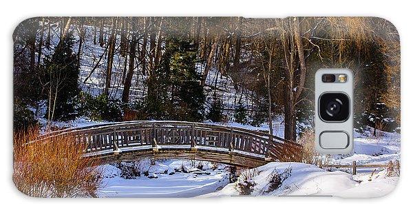 Arched Bridge In Edwards Garden Galaxy Case