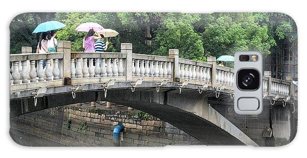 Arched Chinese Bridge With Umbrellas - Shamian Island - Guangzhou - Canton - China Galaxy Case