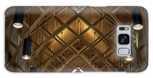 Arched Trusses - University Of Florida Chapel On Lake Alice Galaxy Case by Lynn Palmer
