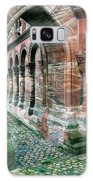 Arches And Cobblestone Galaxy Case by Maria Huntley