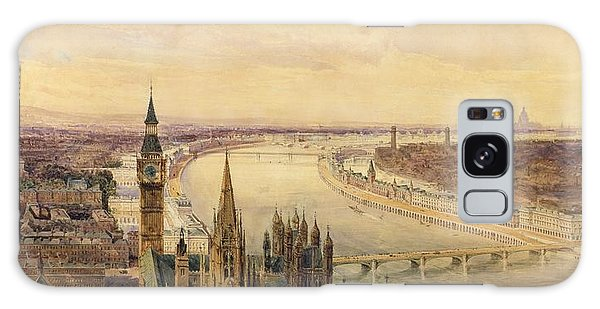 Houses Of Parliament Galaxy Case - Architectural Panorama Of A Proposed by Henry Newton