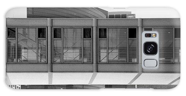 Architectural Pattern Glass Bridge Black White Galaxy Case