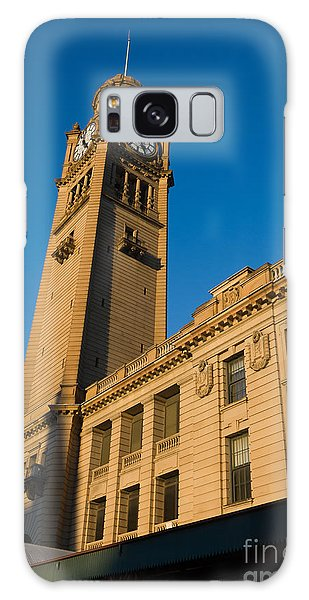 Architecture Of The Past - A Tall Station Clock Tower Galaxy Case
