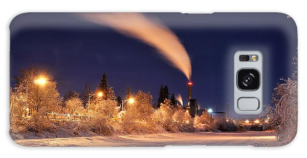 Arctic Power At Night Galaxy Case