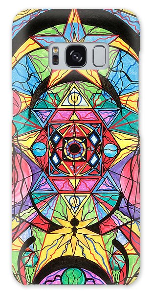 Beautiful Galaxy Case - Arcturian Ascension Grid by Teal Eye Print Store