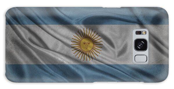 Argentinian Flag Waving On Canvas Galaxy Case