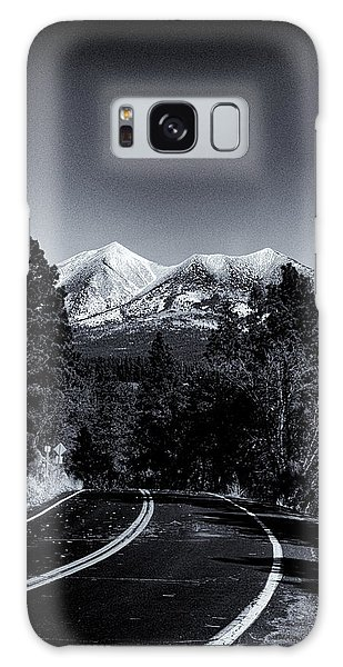 Arizona Country Road In Black And White Galaxy Case