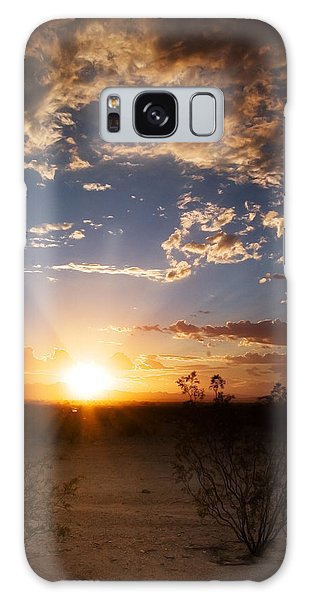 Galaxy Case featuring the photograph Arizona Desert Sunset by Brad Brizek