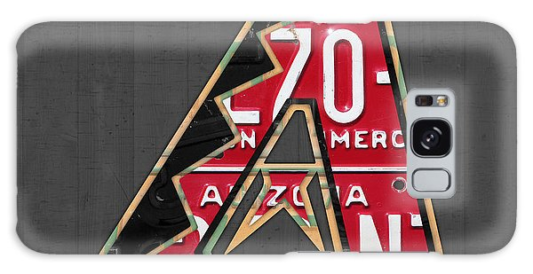 Arizona Diamondbacks Baseball Team Vintage Logo Recycled License Plate Art Galaxy S8 Case