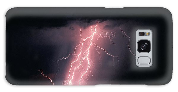 Ominous Galaxy Case - Arizona  Lightning Over City Lights by Anonymous
