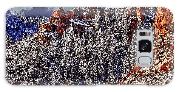 Arizona Secret Mountain Wilderness In Winter Galaxy Case