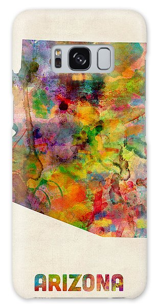 Arizona Watercolor Map Galaxy Case