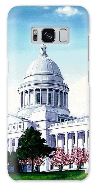 Arkansas Capitol Blossoms Galaxy Case