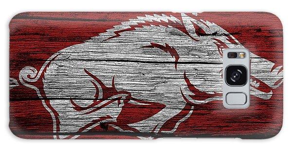 Arkansas Razorbacks On Wood Galaxy Case by Dan Sproul