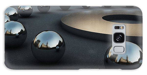 Reflections Galaxy Case - Around Circles by Richard Rizzo