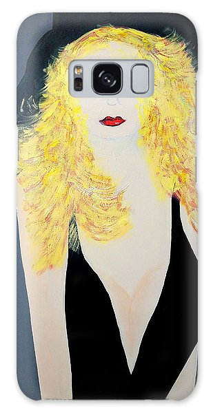 Art Deco Girl With Black Hat Galaxy Case