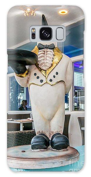 Art Deco Penguin Waiter South Beach Miami Galaxy Case by Ian Monk