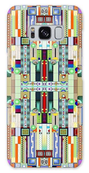 Art Deco Galaxy S8 Case - Art Deco Stained Glass 2 by Ellen Henneke