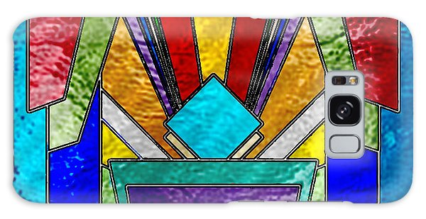 Art Deco - Stained Glass 6 Galaxy Case by Chuck Staley