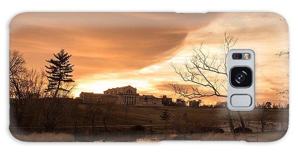 Art Hill Winter Sunset Galaxy Case