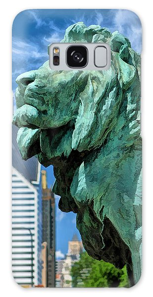 Art Institute Galaxy S8 Case - Art Institute In Chicago Lion by Christopher Arndt