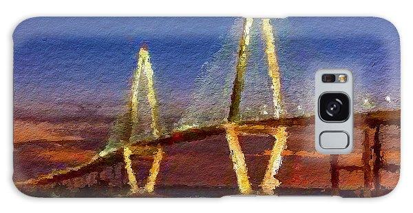 Arthur Ravenel Bridge At Evening  Galaxy Case