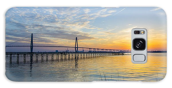 Calm Waters Over Charleston Sc Galaxy Case by Dale Powell