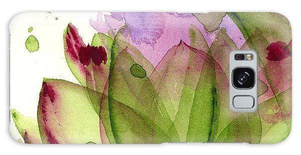 Artichoke Flower Galaxy Case by Dawn Derman
