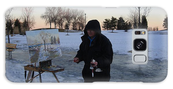 Outdoor Galaxy Case - Artist At Work Lake Shore Mississauga On by Ylli Haruni