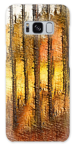 Artistic Fall Forest Abstract Galaxy Case