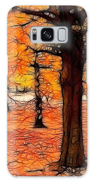 Artistic Fall Trees Galaxy Case