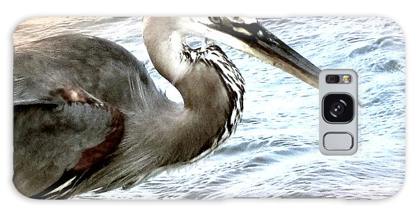 Artistic Great Blue Heron Galaxy Case