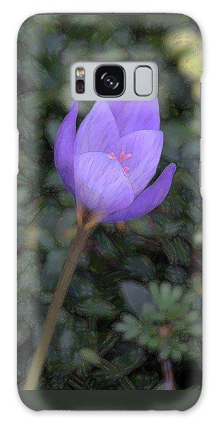 Purple Flower Galaxy Case by John Freidenberg