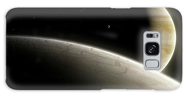 Chasm Galaxy Case - Artwork Of Europa And Jupiter by Mark Garlick/science Photo Library