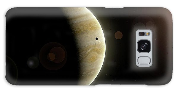 Chasm Galaxy Case - Artwork Of Io And Jupiter by Mark Garlick/science Photo Library