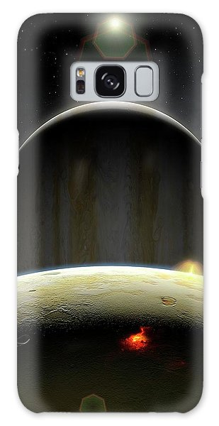 Chasm Galaxy Case - Artwork Of Volcanic Io And Jupiter by Mark Garlick/science Photo Library