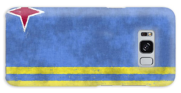 Bahamas Galaxy Case - Aruba Flag by World Art Prints And Designs