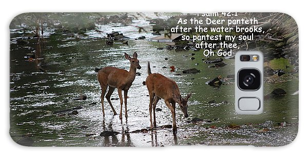 As The Deer Pants For Water Galaxy Case by Lorna Rogers Photography