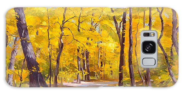 Ash Trees At Fall In The Morton Arboretum Galaxy Case