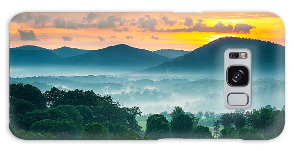 Sunset Galaxy Case - Asheville Nc Blue Ridge Mountains Sunset - Welcome To Asheville by Dave Allen
