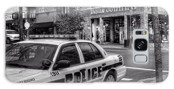 Asheville Pd Car 54 In Black And White Galaxy Case