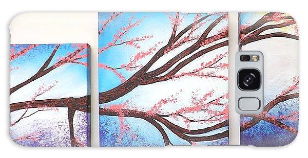 Asian Bloom Triptych Galaxy Case